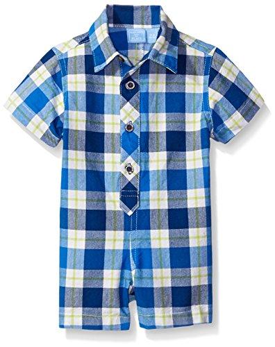 The Children's Place Baby Boys' Short Sleeve Romper, Captain Navy 4457, 3-6 Months