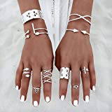 Women Vintage 8Pcs/Set Popular Antique Silver Knuckle Midi Mid Finger Rings Boho#by pimchanok shop