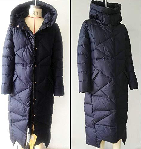 Blu Cappotto Parka Con Spessore Caldo Anatra Donna Bianco Cappuccio Piumino Invernale Lungo xgfOwOPZ