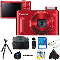 Canon PowerShot SX610 HS Digital Camera (Red) + Pixi-Basic Accessory Bundle Key Pieces Review Image