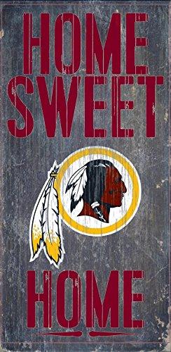 Fan Creations - Washington Redskins Wood Sign - Home Sweet Home - Malls Washington Outlet