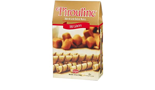 Amazon.com: Pirouline Dulce De Leche Cream Filled Wafer Rolls, 100 Calorie Pack (2-Count Single Serving Packs), 6.5-Ounce Boxes (Pack of 6)