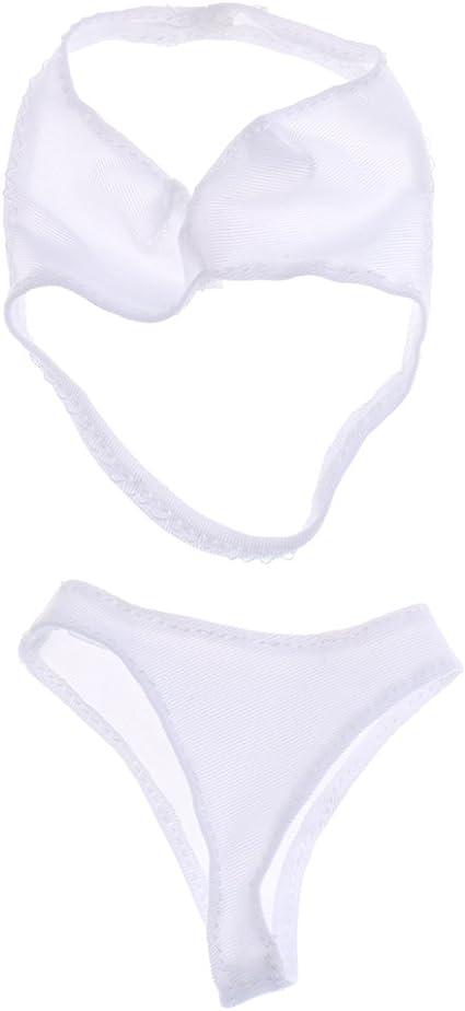 "1:6th White swimsuit Female underwear Bikini  For 12/"" Phicen Women Body Doll"