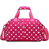Fashion Duffle Travel Bag Tote for Women Waterproof Camp Bag (rose red)