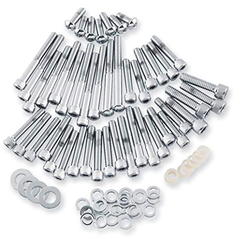 Gardner-Westcott Cam and Primary Cover Hardware Set - Knurled - Chrome -