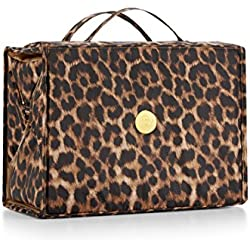 Joy Mangano Extra Large Better Beauty Case, Leopard, x