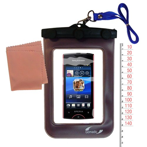 Gomadic clean and dry waterproof protective case suitablefor the Sony Ericsson Xperia ray to use underwater - Unique Floating Design (Xperia Case Sony Ray Ericsson)