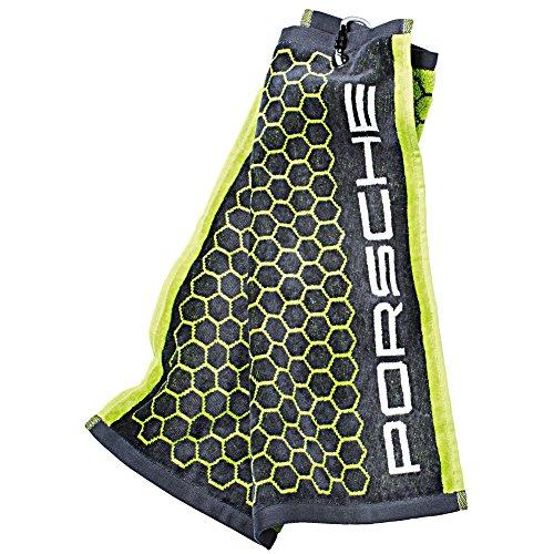 Porsche Logo Golf Towel Acid Green and Grey - Buy Online in Oman ... 99ed345764d8