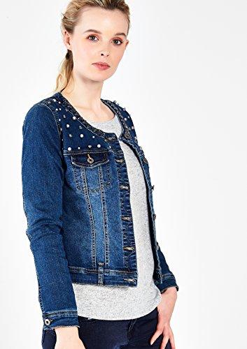 LOLALIZA - Veste en jeans avec perles et ornements - Blue Denim - Tailles M-XXL