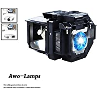 AWO Premium Replacement Projector Lamp Bulb with Housing For ELP-LP96/V13H010L96 PowerLite X39 1266 1286,Home Cinema 1060 2100 2150 660 760,EB-W42 EB-X41 EH-TW5600 EH-TW5650 EX5260 VS250 VS350 VS355