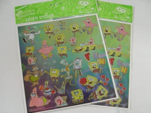 Nick Jr Spongebob Laser Sticker decoratives (2 sheets set) ()