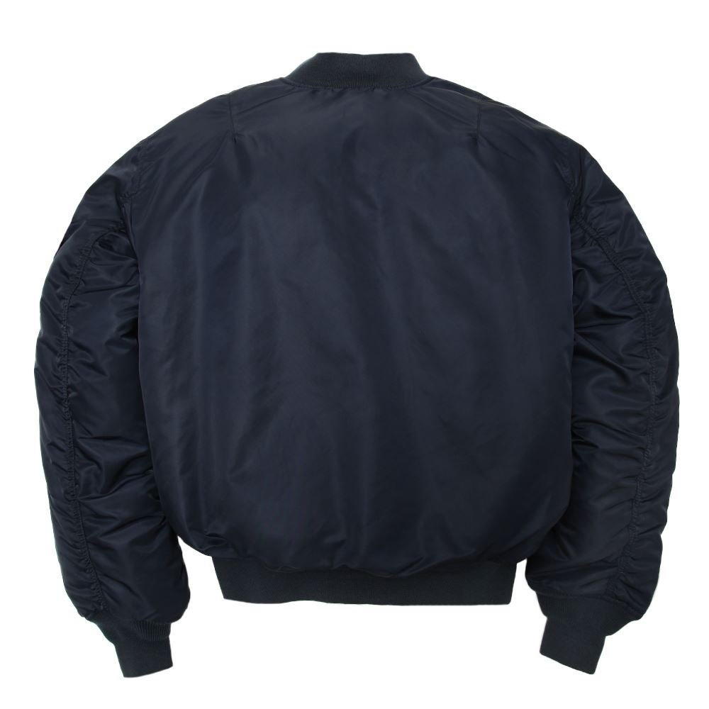 Amazon.com  Made in USA MA-1 ALPHA Air Force AF Flight Military Bomber  Jacket Navy Blue  Clothing c2aa10cd590