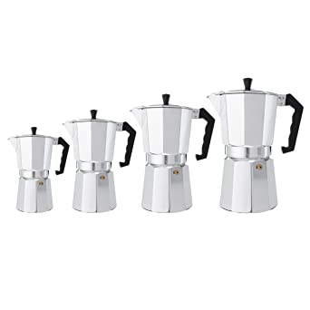 RanDal 3/6/9/12 Tazas Aluminio Espresso Moka Percolator Cafetera ...