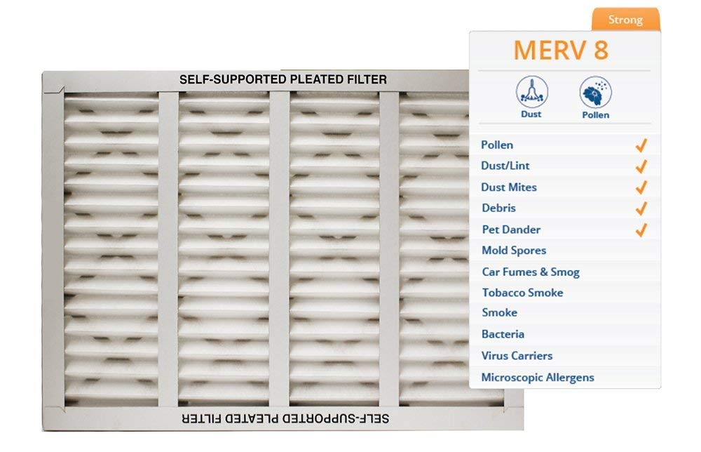 STCC 16x25x1 Purolator Key Pleat Extended Surface Pleated Air Filter Pack of 6 KP-16x25x1x6.AZ.DSC Furnace Air Filter Assigned by Sterling Seal /& Supply, Mechanical MERV 8