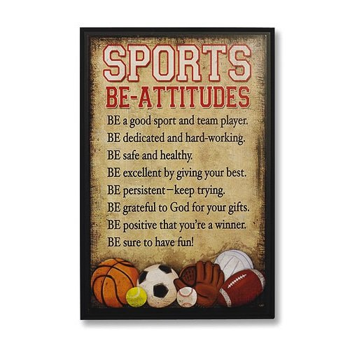 Abbey Gift Sports Be-Attitudes Plaque