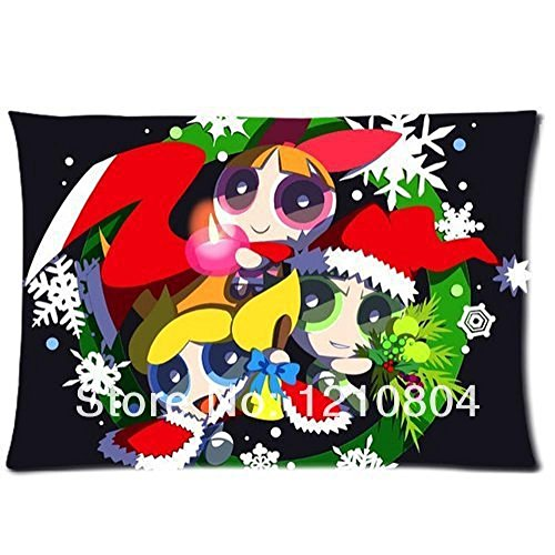 Mark Fashion Powerpuff Girls Merry Christmas For Double-Sided Printed Pillow Case 20X30Inches