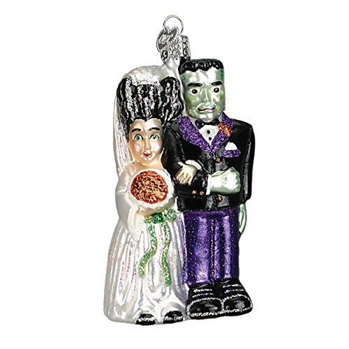 Bride Of Frankenstein Makeup - Old World Christmas Glass Blown Ornament