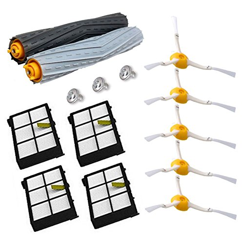 Theresa Hay 11Pcs/Lot Tangle-Free Debris Extractor Replacement Kit iRobot Roomba 800 900 series 870 880 980 Vacuum Robots accessory parts by Theresa Hay