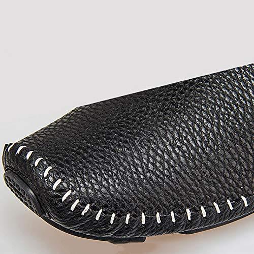 Scarpe ON Casual Autunno Mocassini Uomo E Blu Da Pelle In Da Slip Comfort Black Nero Guida Bianco Scarpe xwRPzvqf