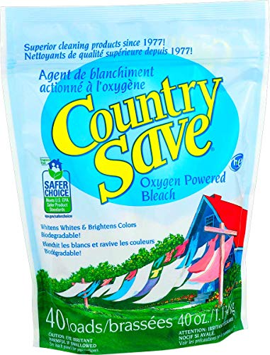 Country Save Oxygen Bleach Powder - Color Safe Bleach Laundry Whitener - Hypo-Allergenic Powder Bleach Cleaner for Whites and Colored Garments - Resealable Pack, 2.5 lbs ()