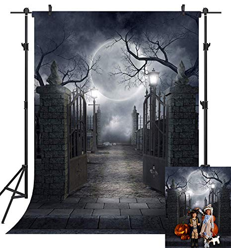 Halloween Horror Nights Theme 2019 (Art Studio 5x7ft Nightmare Trick or Treat 2019 Halloween Themed Photography Backdrop Horror Moon Pumpkin Jack Theme Baby Shower Party Decor Photo Background Studio Props Home Decoration Banner)