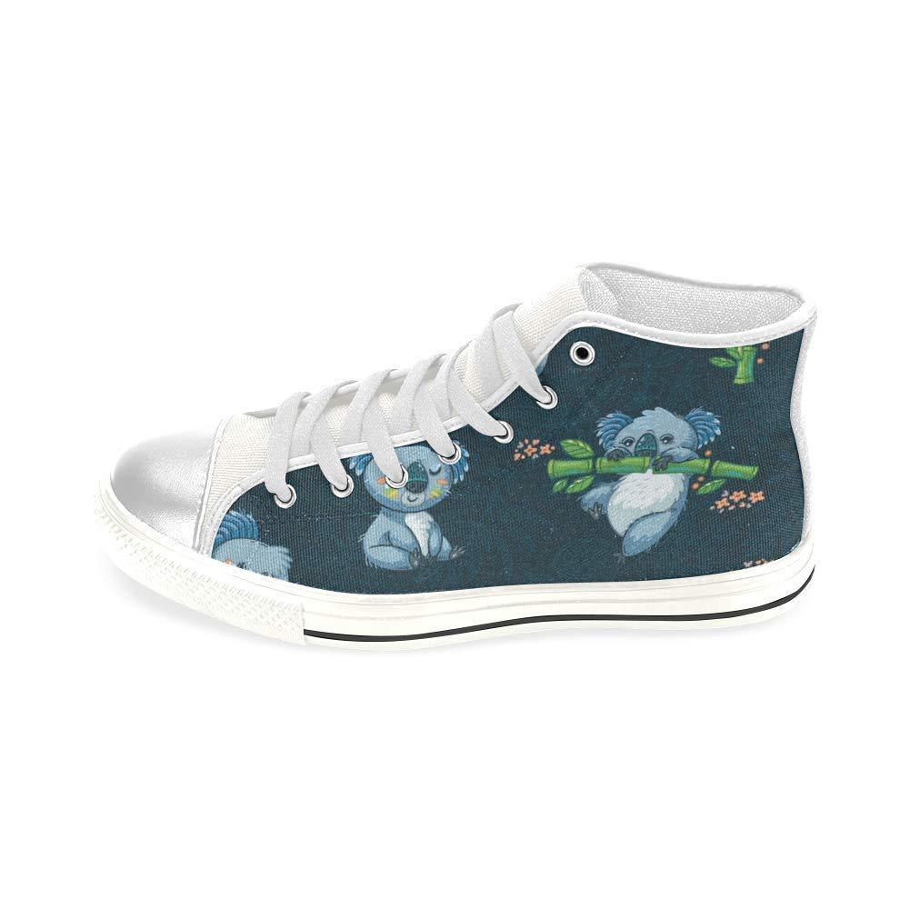 Cute Koalas in Cartoon Aquila High Top Canvas Shoes for Big Kids Boys Girls