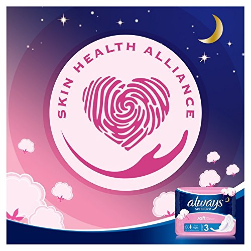 Always Sensitive Night Always Ultra Sanitary Towels with Wings Pack of 18