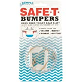 Compac's Toilet Seat Stabilizers Safe T Bumpers, Lock Seat Safely in Place, Keeps Children, Elderly, Disabled or Infirm Safe From Slipping Off Shaking, Moving or Wobbly Toilet Seat-Easy to Install