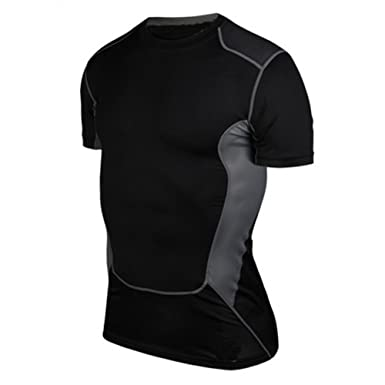 485dac216a Balai Mens Compression Under Base Layer Sports Wear Athletic Shirt Tight  Tops: Amazon.co.uk: Clothing