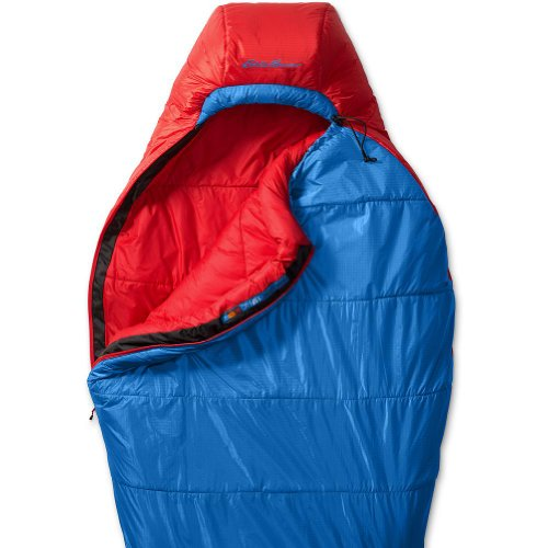 Eddie Bauer The Igniter +15° Synthetic Insulation Sleeping Bag, Blue ONESZE Regular, Outdoor Stuffs