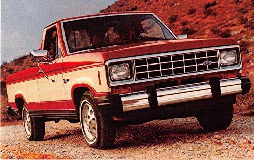 1983 Ford Ranger model description vintage postcard (Description Model)