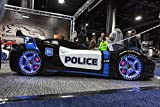 Police race car bed. includes 7' memory foam mattress