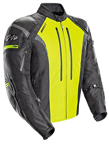 Joe Rocket Atomic Men's 5.0 Textile Motorcycle Jacket (Hi-Viz, Medium)