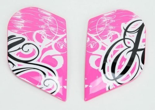 Icon Replacement Sideplates for Airframe Street Angel Full Face Helmet Pink
