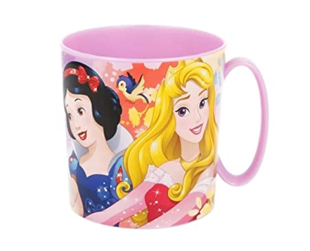 Theonoi Taza de plástico 350 ML a Elegir: Minnie – Princess – Frozen – PawPatrol/Taza con asa de plástico sin BPA Apto para microondas/Regalo para ...