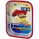 Ez Bake Pan W/Cover Size 2 Ct Hefty Ez Foil Party Colors Cake Pans With Covers 13'' X 9'' X 2''