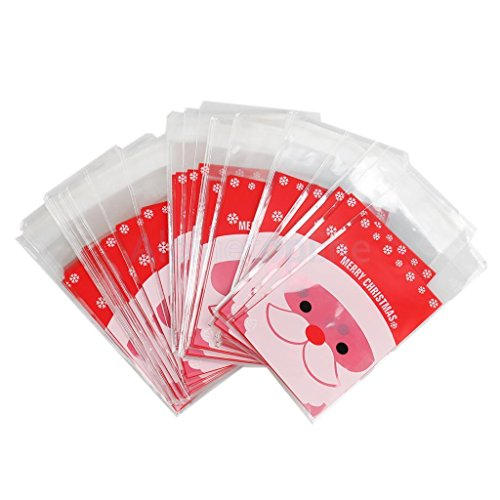 Snowman Snack - 100pcs Phenovo Christmas Snowman Snack Bags Sweet Present Bags Xmas Gifts