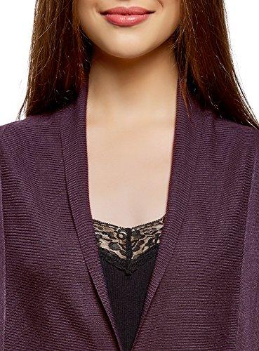 Long Cardigan Violet Femme Fluide oodji Collection 8800n vZwpqxgn