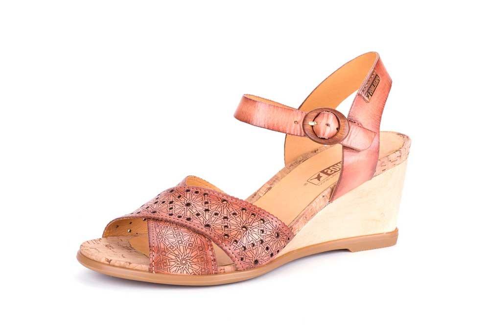 Pikolinos Vigo Qtr Strap Perf Wedge Flamingo B075ZYNWP3 38 M EU|leather