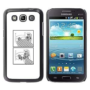 EJOY---Cubierta de la caja de protección la piel dura para el / Samsung Galaxy Win I8550 / --Divertido Rey