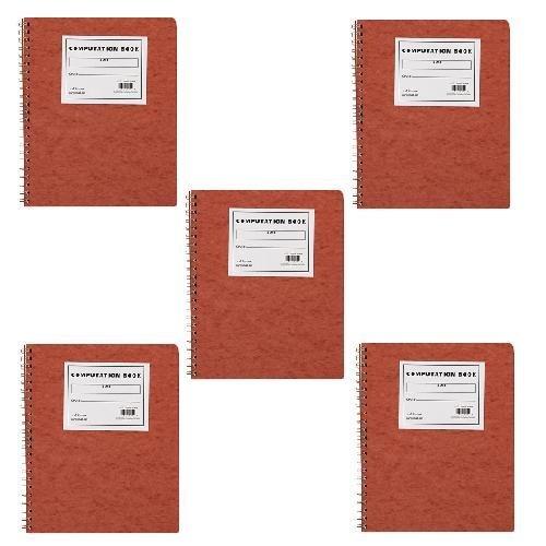 5 X Ampad Computation Book, 4x4 Quad Ruled, 76 Sheets, Ivory, 11-3/4'' x 9-1/4'', 1 per Pack (22-157)