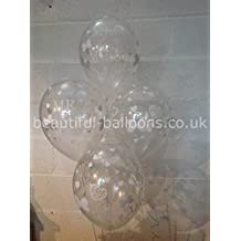 30 Clear Mr & Mrs Pearlised Balloons, Wedding Range (Helium Quality) by Beautiful Balloons