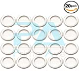 18mm aluminum crush washer - PA OEM Rear Differential Fill Plug Washers (20mm) For Honda, Bag of 20 - 94109-20000