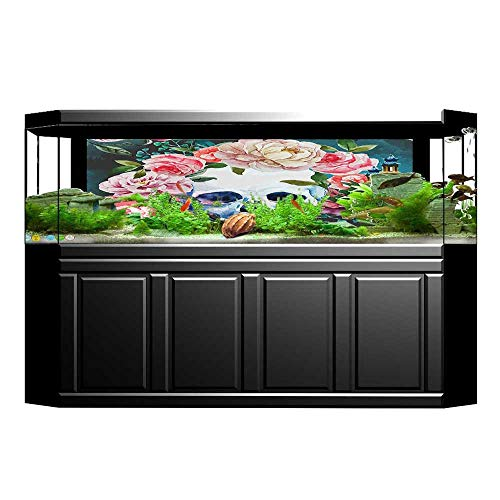 UHOO2018 Background Fish Tank Decorations Collection Big Flowers