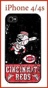 Cincinnati Reds iPhone 4 4s Case Hard Silicone Case by ruishername