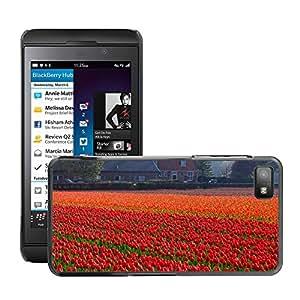 Etui Housse Coque de Protection Cover Rigide pour // M00150797 Tulipanes Campo del tulipán campos de // BlackBerry Z10