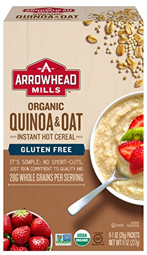 Arrowhead Mills Organic GlutenFree Instant Hot Cereal, Quinoa and Oat, 8 Count Box Arrowhead Mills Hot Cereal