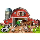 Melissa & Doug Busy Barn Shaped Floor Puzzle (32-Piece)