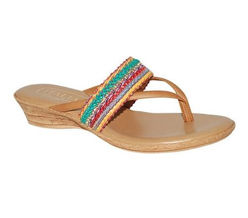 8ba0c0bc2572 Italian Shoemakers Women s Wedge Sandals Jazmine - Bright Multi (6 B ...