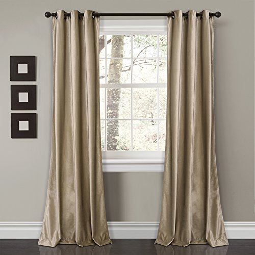 Lush Decor Lush Décor Prima Velvet Solid Room Darkening Window Curtain Panel Pair, 84